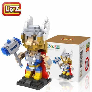 LOZ Super Hero The Hero Captain America Green Titans Iron Man Thor Loki Diamond Building Blocks Action Figure DIY Model - LOZ 9448 with box