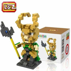 LOZ Super Hero The Hero Captain America Green Titans Iron Man Thor Loki Diamond Building Blocks Action Figure DIY Model - LOZ 9449 with box