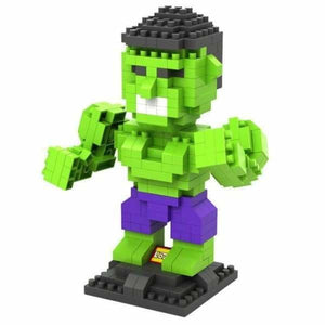 LOZ Super Hero The Hero Captain America Green Titans Iron Man Thor Loki Diamond Building Blocks Action Figure DIY Model - LOZ 9451 no box -