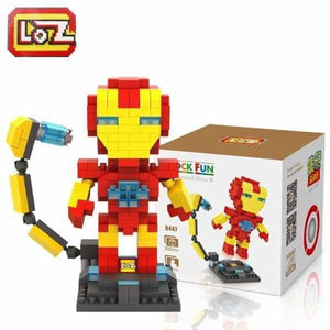 LOZ Super Hero The Hero Captain America Green Titans Iron Man Thor Loki Diamond Building Blocks Action Figure DIY Model - Blocks