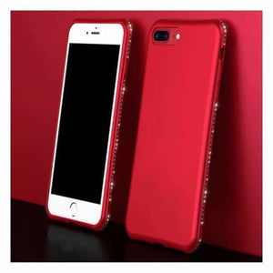 Luxury Diamond iPhone Case - Red / For Iphone 6 6s - Fitted Cases