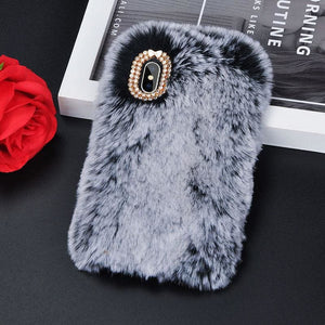 Luxury Furry Phone Case - Gray / for iPhone 6 6S