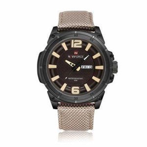 Luxury Mens Nylon Strap Sports Wristwatch - Grey