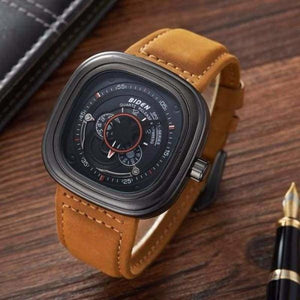 Luxury Military Quartz Sports Watch - Leather Strap