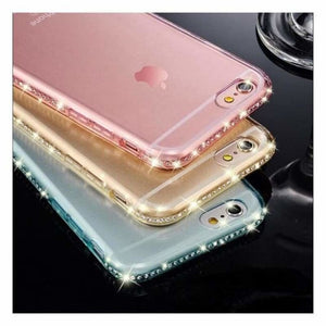Luxury Transparent Diamond iPhone Case - Fitted Cases