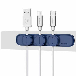 Magnetic Cable Organizer - Blue - Cable Winder