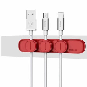 Magnetic Cable Organizer - Red - Cable Winder