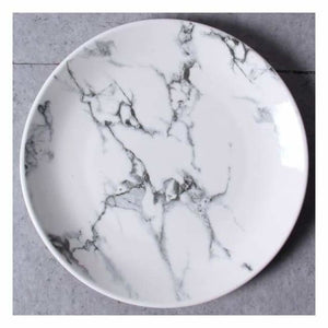 Marble Effect Porcelain Tableware - Dishes & Plates - 10 inch Round Plate - marble-effect-porcelain-tableware