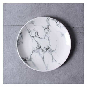 Marble Effect Porcelain Tableware - Dishes & Plates - 6 inch Round Plate - marble-effect-porcelain-tableware