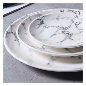 Marble Effect Porcelain Tableware - Dishes & Plates - marble-effect-porcelain-tableware