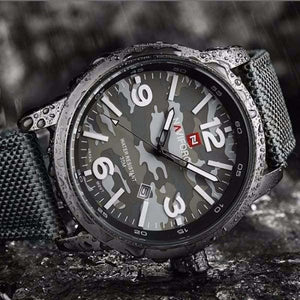 Men Camouflage Style Watch
