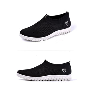 Mens Casual Shoes Sneakers - Black / 6