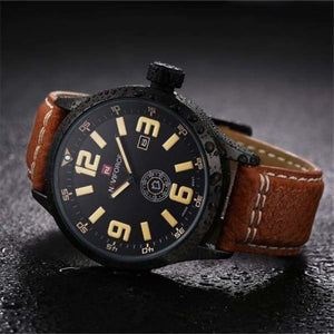 Mens Leather Sport Watch
