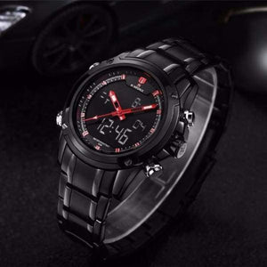 Mens Luxury Military LCD Luminous Analog & Digital Watch