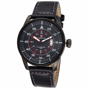 Mens Luxury Ultra Thin Dial Sports Watch - Black Black