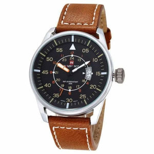 Mens Luxury Ultra Thin Dial Sports Watch - Silver Brown