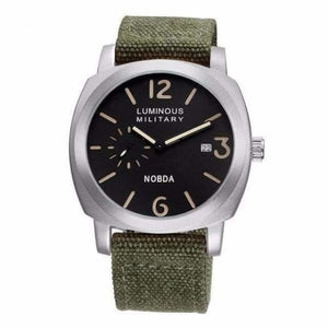 Mens Luxury Watch With Leather Strap - Grey