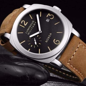 Mens Luxury Watch With Leather Strap