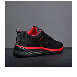 Mesh Men Casual Shoes - Red / 38