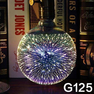 [MingBen] Led Light Bulb E27 Led Lamp 3D Decoration Bulb 4W 220-240V Holiday Lights ST64 G95 Novelty Lamp Christmas Decoration - G125 - LED