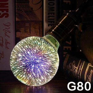 [MingBen] Led Light Bulb E27 Led Lamp 3D Decoration Bulb 4W 220-240V Holiday Lights ST64 G95 Novelty Lamp Christmas Decoration - G80 - LED