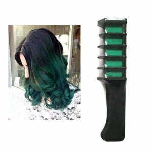 Mini Disposable Temporary Hair Dye Comb - Green - Hair Color