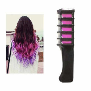 Mini Disposable Temporary Hair Dye Comb - rose red - Hair Color