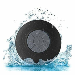 Mini Portable Bluetooth Shower speaker - Black - Combination Speakers