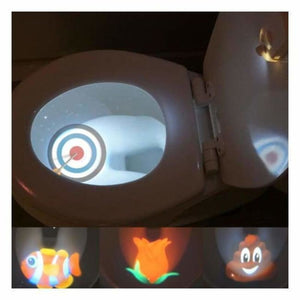 Motion Sensored Toilet Seat LED Picture Light - LED Night Lights