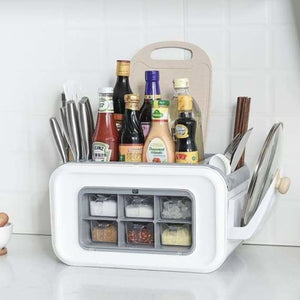 Multi-functional spice rack organizer - bottles,jars & boxes - multi-functional-spice-rack-organizer