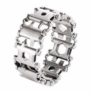 Multi Functional Tools Bracelet - Silver Plated