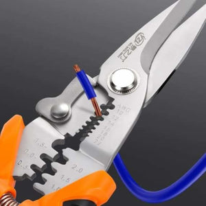 Multi functional wire stripper crimping pliers - pliers - multi-functional-wire-stripper-crimping-pliers