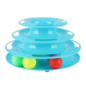 Pet Tower Of Tracks Interactive Toy - Blue - Cat Toys