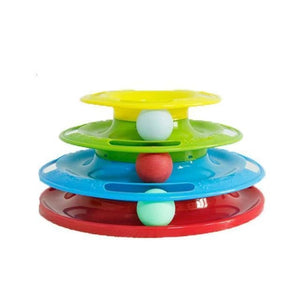 Pet Tower Of Tracks Interactive Toy - Colourful - Cat Toys