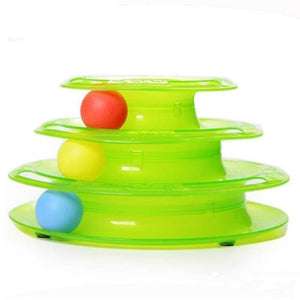 Pet Tower Of Tracks Interactive Toy - Green - Cat Toys