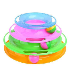 Pet Tower Of Tracks Interactive Toy - Multicolour - Cat Toys