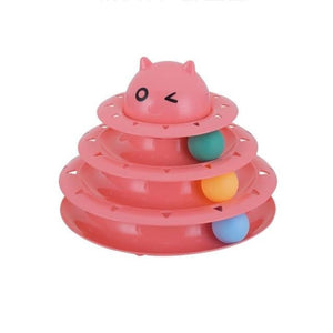 Pet Tower Of Tracks Interactive Toy - Pink - Cat Toys