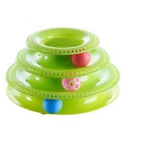 Pet Tower Of Tracks Interactive Toy - Round Green - Cat Toys