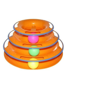 Pet Tower Of Tracks Interactive Toy - Yellow - Cat Toys