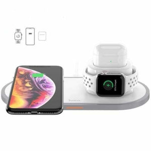 Portable 3 in 1 qi wireless charger pad - mobile phone chargers - 3 in 1 - portable-3-in-1-qi-wireless-charger-pad