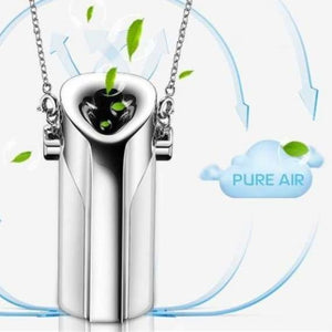 Portable air purifier necklace with negative ioniser usb - portable-air-purifier-usb-necklace-with-negative-ioniser