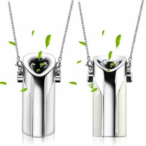 Portable air purifier necklace with negative ioniser usb - silver - portable-air-purifier-usb-necklace-with-negative-ioniser