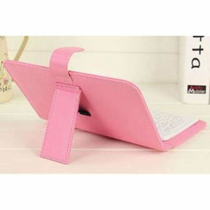 Portable Bluetooth Smartphone Keyboard - Mobile Phone Holders & Stands - Pink - portable-bluetooth-smartphone-keyboard