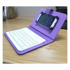 Portable Bluetooth Smartphone Keyboard - Mobile Phone Holders & Stands - Purple - portable-bluetooth-smartphone-keyboard