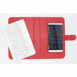Portable Bluetooth Smartphone Keyboard - Mobile Phone Holders & Stands - Red - portable-bluetooth-smartphone-keyboard