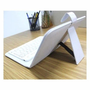 Portable Bluetooth Smartphone Keyboard - Mobile Phone Holders & Stands - White - portable-bluetooth-smartphone-keyboard