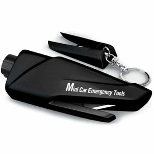 Portable Car Window Breaker - Car Emergency Rescue kit - Deep Black - portable-car-window-breaker