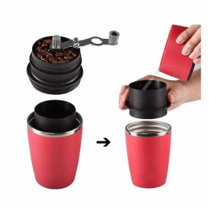 Portable Coffee Mug & Grinder - Manual Coffee Grinders - portable-coffee-maker-grinder