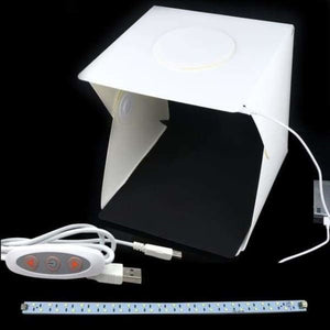Portable Folding Studio Box - M add 1 cable 1 led - Photo Studio Accessories