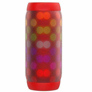 Portable Speaker With LED Lights & Bluetooth - Red - Portable Speakers